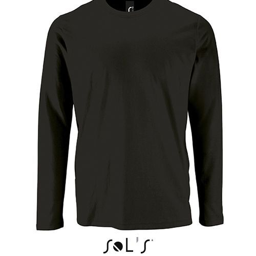 Mens Long-Sleeve T-Shirt Imperial [XL] (deep black) (Art.-Nr. CA757592)