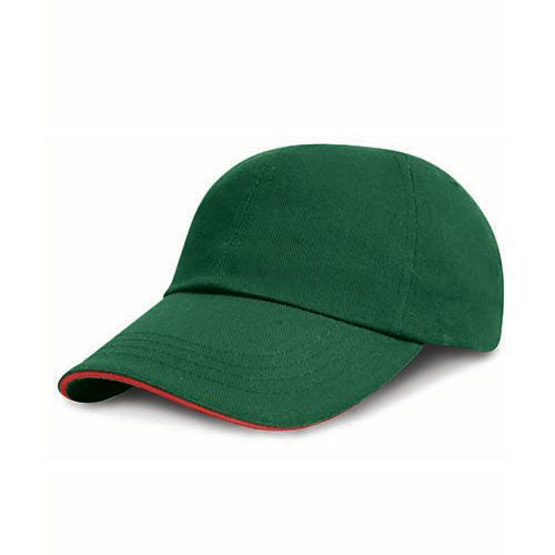 Heavy Brushed Cotton Cap [One Size] (Forest / red) (Art.-Nr. CA783193)