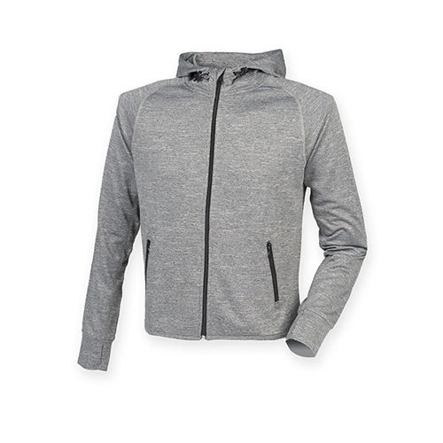 Men`s Hoodie with Reflective Tape [XXL] (Grey Marl) (Art.-Nr. CA786577)