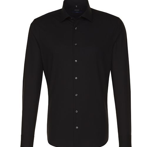 Mens Shirt Tailored Fit Longsleeve [42] (black) (Art.-Nr. CA792914)