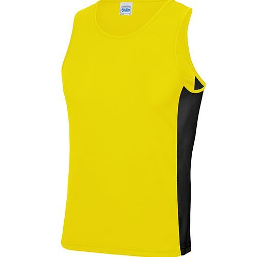 Men`s Cool Contrast Vest [L] (Sun yellow) (Art.-Nr. CA799319)