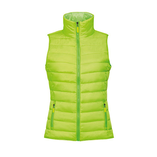 Women`s Lightweight Bodywarmer Wave [XXL] (neon lime) (Art.-Nr. CA805339)
