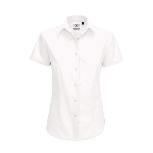 Poplin Shirt Smart Short Sleeve / Women [XL (42)] (white) (Art.-Nr. CA807735)