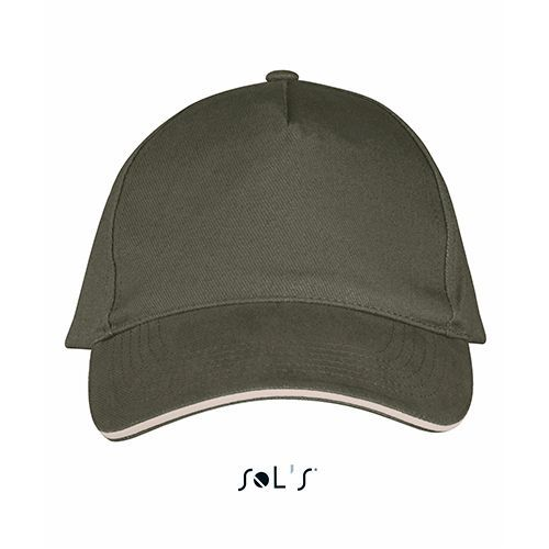 Five Panels Cap Long Beach [One Size] (army / beige) (Art.-Nr. CA821290)