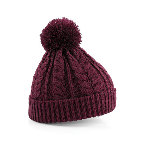 Cable Knit Snowstar® Beanie [One Size] (burgundy) (Art.-Nr. CA829845)