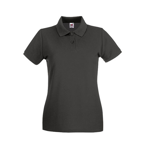 Fruit of the Loom Premium Polo Lady-Fit [S] (light graphite (Solid)) (Art.-Nr. CA849789)