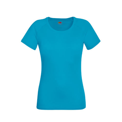Fruit of the Loom Performance T Lady-Fit [XS] (Azure blue) (Art.-Nr. CA849987)