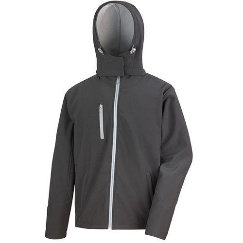 Mens Core Lite Hooded Soft Shell Jacket [XL] (Black/Grey) (Art.-Nr. CA887272)