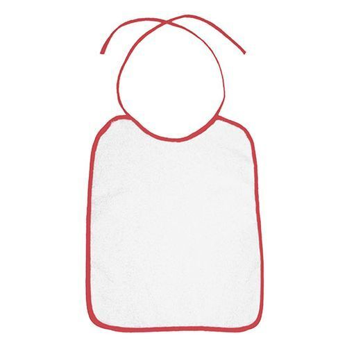 Piped Border Baby Bib Terry [22 x 27 cm] (Paprika Red (Red)) (Art.-Nr. CA892883)