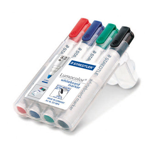 STAEDTLER Box mit 4 Lumocolor whiteboard marker (Art.-Nr. CA659652)