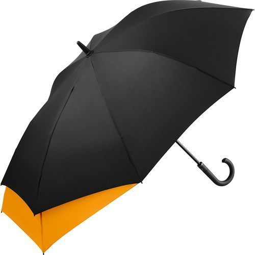 AC-Midsize-Stockschirm FARE®-Stretch (schwarz-orange) (Art.-Nr. CA508407)