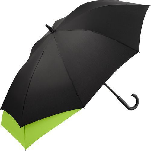 AC-Midsize-Stockschirm FARE®-Stretch (schwarz-limette) (Art.-Nr. CA885581)