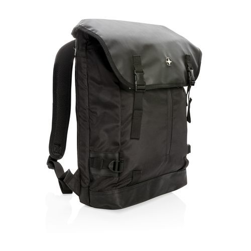 "Swiss Peak 17"" Outdoor Laptop Rucksack (Art.-Nr. CA003761) - Stylischer Flap-Over 17"" Laptop Rucksa..."