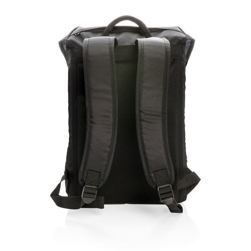 "Swiss Peak 17"" outdoor Laptop Rucksack, schwarz (Art.-Nr. CA003761) - Stylischer Flap-Over 17"" Laptop Rucksa..."