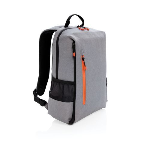 Lima 15, 6' RFID & USB Laptop-Rucksack PVC-frei (grau, orange) (Art.-Nr. CA021784)