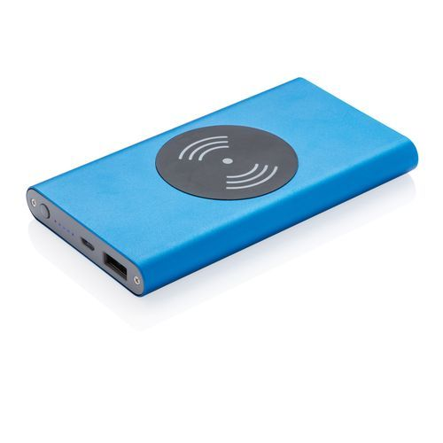4.000 mAh Powerbank mit 5W Wireless Charger (blau) (Art.-Nr. CA042328)