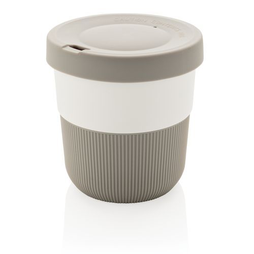 PLA Cup Coffee-To-Go 280ml, grau (grau) (Art.-Nr. CA171450)