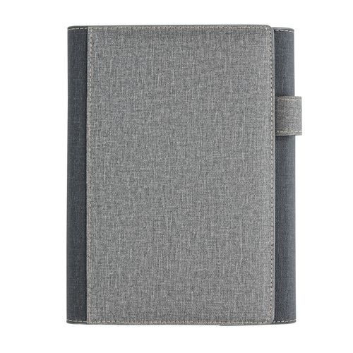 A5 Deluxe-Design Notizbuch-Cover (grau) (Art.-Nr. CA342538)