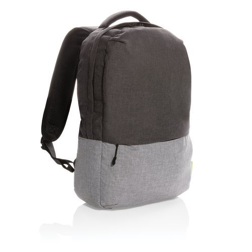 Duo Color RPET 15.6' RFID Laptop-Rucksack, PVC-frei (grau) (Art.-Nr. CA444472)