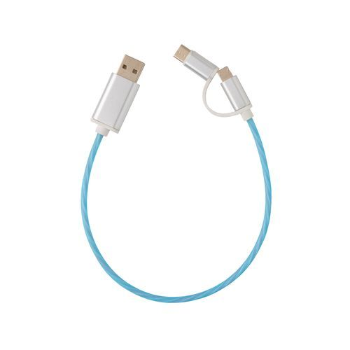 3-in-1 leuchtendes Kabel (blau) (Art.-Nr. CA557119)