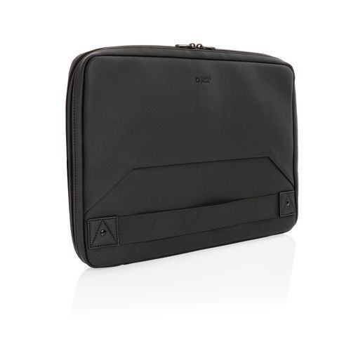 Swiss Peak Deluxe PU Laptop-Sleeve Workstation, PVC-frei (schwarz) (Art.-Nr. CA592379)