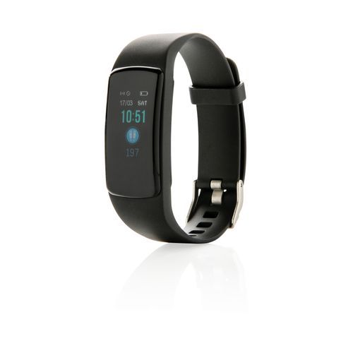 Stay Fit Activity-Tracker mit Herzfrequenzmessung (schwarz) (Art.-Nr. CA787169)