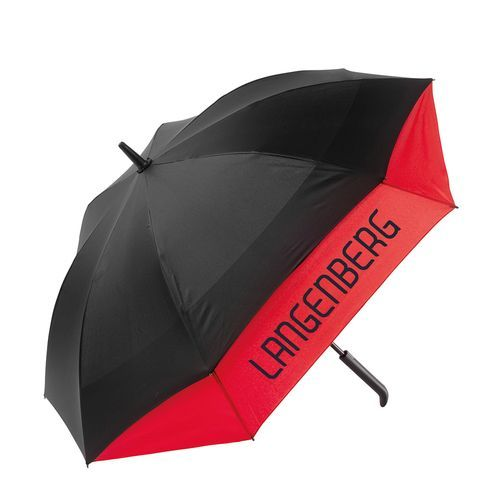 Stockschirm TWIN-UMBRELLA (schwarz / rot) (Art.-Nr. CA073760)