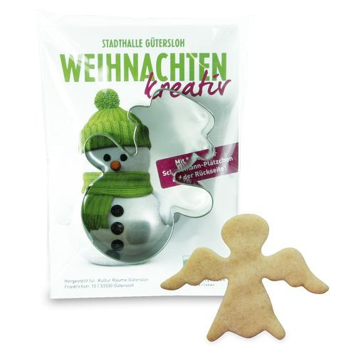 Backförmchen-Winter Werbetüte - Engel (individuell) (Art.-Nr. CA334491)