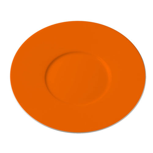 Untertasse flach, farbig (orange) (Art.-Nr. CA746897)