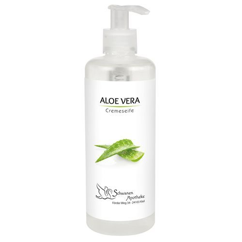 300 ml Pumpspender mit Cremeseife Aloe Vera inkl. 4c Etikett (transparent) (Art.-Nr. CA375528)