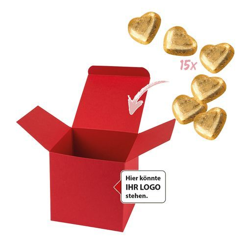 Color Box Lindt Herzchen (Rot - Gold) (Art.-Nr. CA217218)