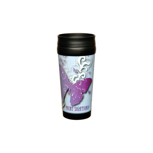 Robusta Photo Travel Mug (silber, weiß) (Art.-Nr. CA115213)