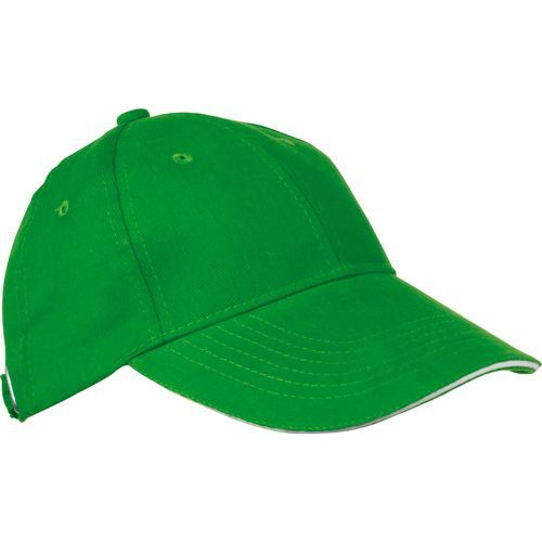 6 Panel Sandwich-Baseball-Cap (grün) (Art.-Nr. CA031663)