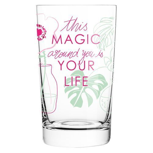 RITZENHOFF Softdrinkglas ' Everyday Darling ' (grün, pink, Rosa) (Art.-Nr. CA003806)