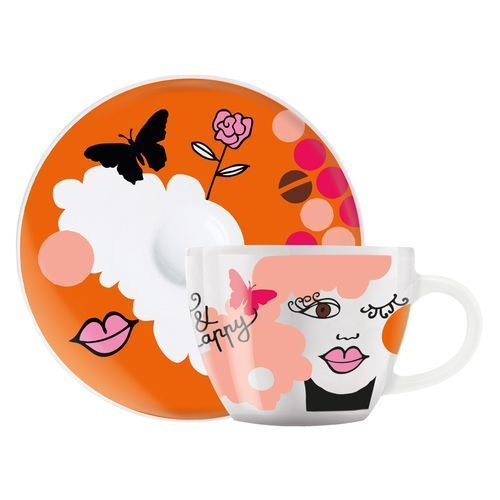 RITZENHOFF Espressotasse ' My Little Darling ' (orange, pink) (Art.-Nr. CA095142)