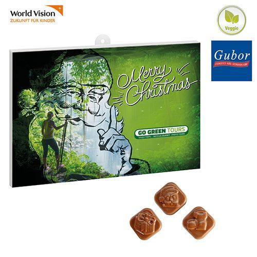 Classic Schoko-Wand-Adventskalender BUSINESS (Art.-Nr. CA192403) - Wand-Adventskalender im Hoch- oder...