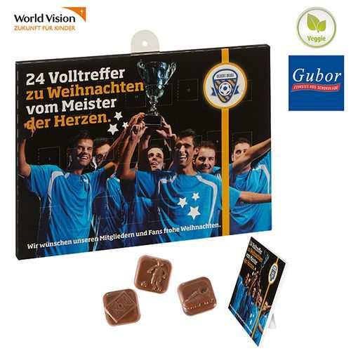 Fußball-Schoko-Adventskalender BUSINESS (4-farbig) (Art.-Nr. CA270774)