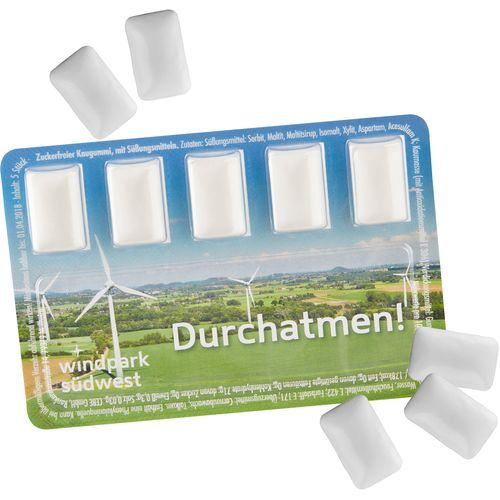 Smart Card mit Kaugummi-Dragees [100er Pack] (Art.-Nr. CA285361)