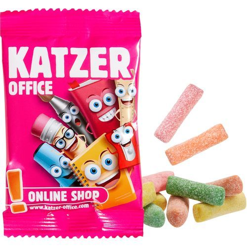 Mini HITSCHIES Kaubonbons Sauer Mix [100er Pack] (1-4-farbig) (Art.-Nr. CA520396)