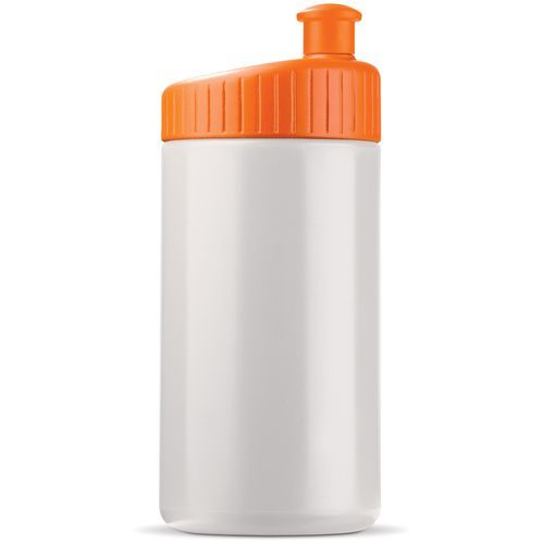 Sportflasche 500ml Design (Weiss / orange) (Art.-Nr. CA002814)