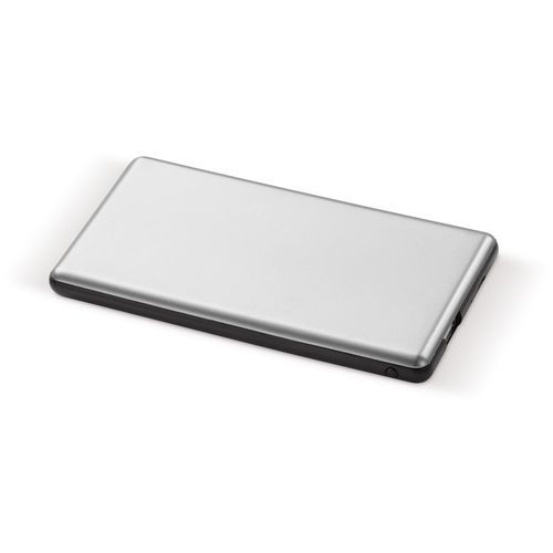 Light up Logo Powerbank 4000mAh (silber / schwarz) (Art.-Nr. CA196164)