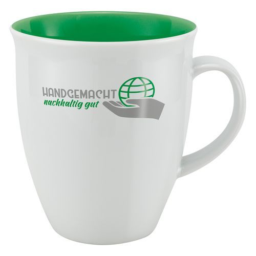 Tasse Santiago, Made in EU [0.41 L] (uni weiß) (Art.-Nr. CA750631)