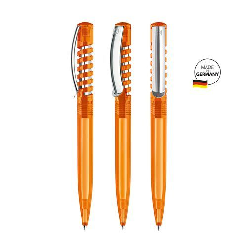 senator® New Spring Clear MC Druckkugelschreiber (orange 151) (Art.-Nr. CA040561)