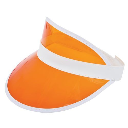 Sonnenvisier mit PVC-Stirnschirm (white / orange) (Art.-Nr. CA108600)