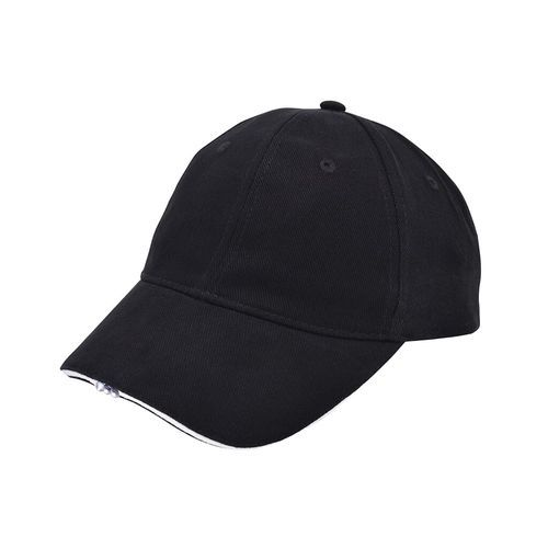 Heavy Brushed Cap mit LED (black / white) (Art.-Nr. CA201578)
