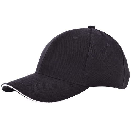 Heavy Brushed Cap (black / white) (Art.-Nr. CA500565)