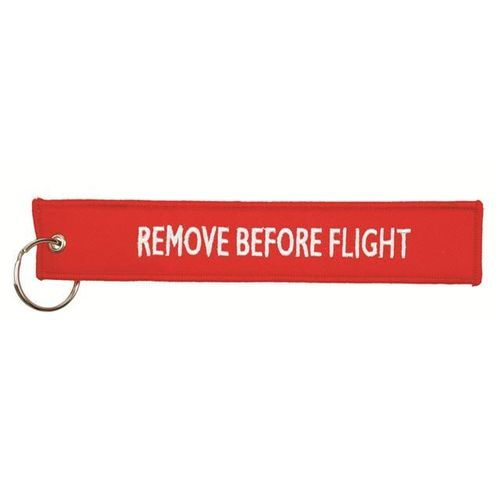 "Hangtag ""Remove before flight"" (PMS 198C) (Art.-Nr. CA625499)"