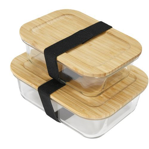 ECO GLASS S Lunchbox (transparent, braun) (Art.-Nr. CA373195)