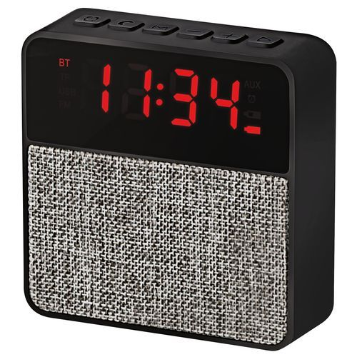 Time Bluetooth-Speaker mit LED-Uhr (schwarz / grau) (Art.-Nr. CA414350)