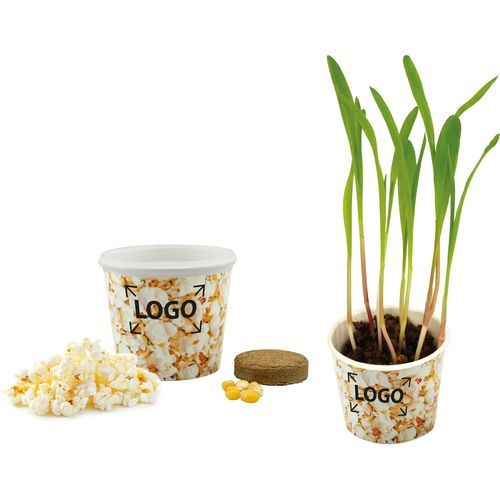 Snack 2Grow Popcorn, Popcorn-Mais, 1-4 c Digitaldruck inklusive (weiß) (Art.-Nr. CA108725)